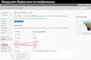 Go to Users -> My Profile and enter the names you want in the Basic Details fields